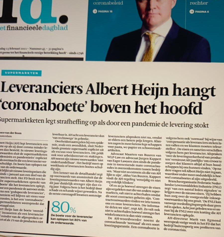 Albert Heijn coronaboete of redelijk beding?